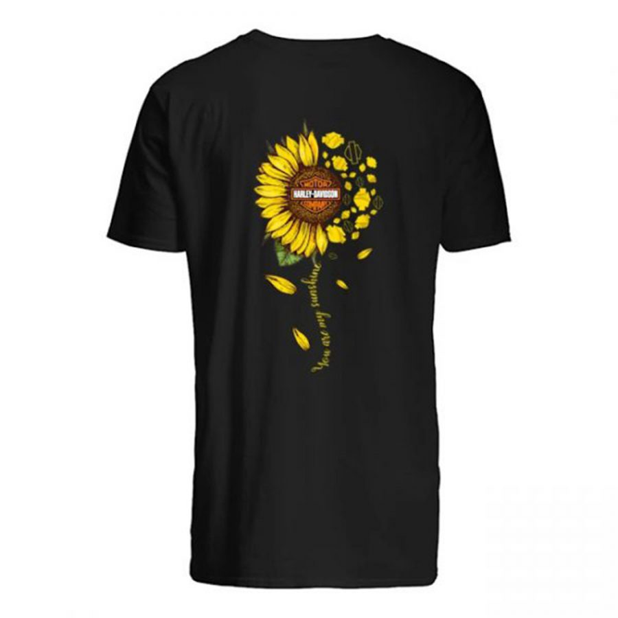 Sunflower harley davidson you are my sunshine shirt