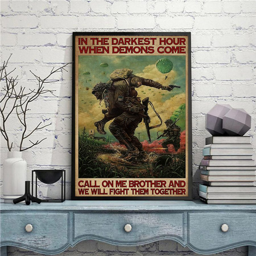 Military in the darkest hours when demons come poster