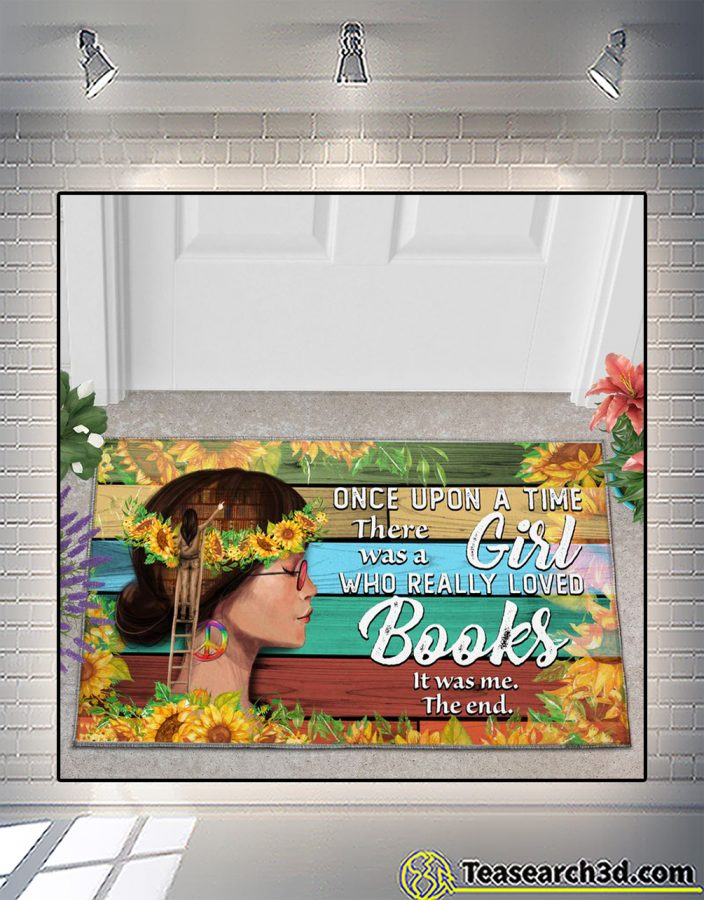 Once upon a time there was a girl who really loved books doormatOnce upon a time there was a girl who really loved books doormat