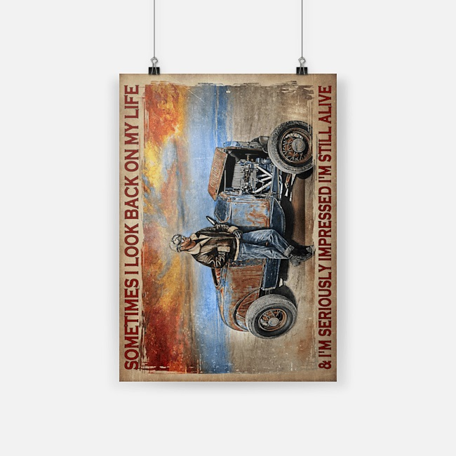 Hot rod sometimes I look back on my life poster